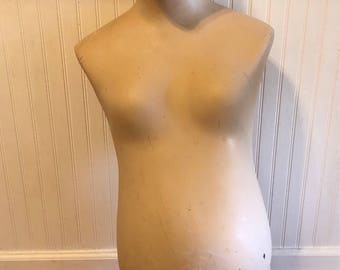"PREGNANT MANNEQUIN with HEAD, Vintage Mannequin, 39"" Height, Baby, Maternity Mannequin, Maternity Clothes, Model, Photo Prop at Modern Logic"
