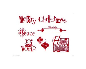 CLEARANCE Christmas unmounted rubber stamps
