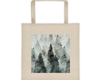 Forest Watercolor Tote bag
