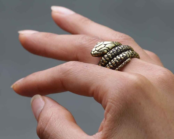 Snake Ring Gold Snake Ring Ouroboros Ouroboros Ring