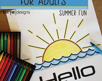 Coloring Book for Adults: Summer Fun