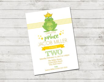 Frog prince invite etsy frog birthday party invitation prince birthday invitation frog invitation prince invitation top filmwisefo Images