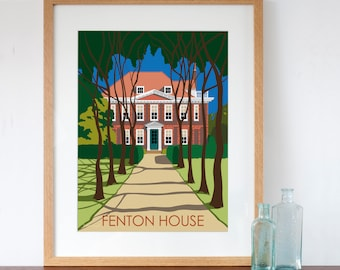 Fenton House London Retro Style Art Print