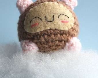 Amigurumi Brown Sleeping Hamster Squishling