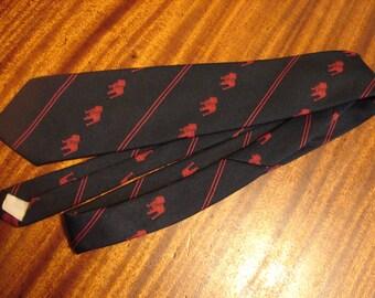Men's Necktie Mack Truck Vintage Men's Tie Navy and Maroon