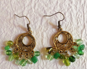 Brass Earrings, Ethnic Earrings