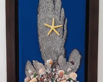 Coral and Seashells Art