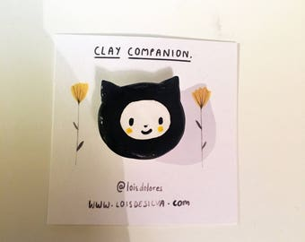 Clay Companion Badges - Cat