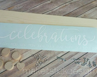 Family Birthday Board, DIY KIT, Celebration Board Diy Kit, Birthday Calendar Diy Kit, Family Celebrations Diy Kit