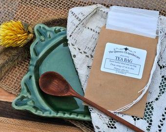 TEA BAGS | Drawstring | Disposable | 25 count