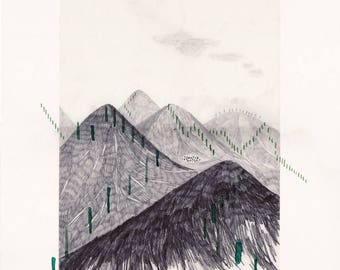 magnetic mountains: downhill . digital prints
