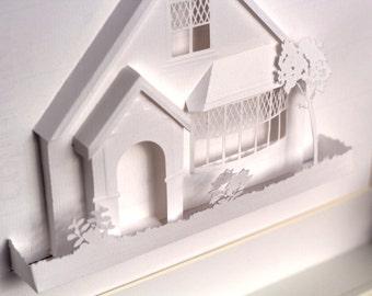 3D Paper House Design - Kirigami Inspired