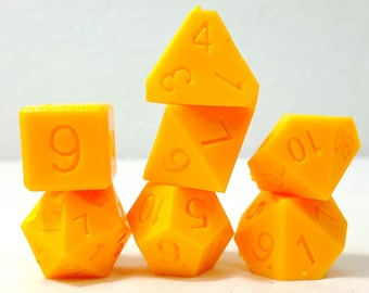 Perfect Plastic Dice - RAW - Yellow