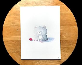 Cute Kitty Watercolor