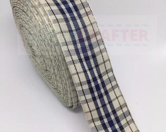Scottish Tartan Plaid Polyester Double Sided Ribbon 25mm Bows
