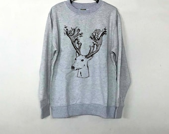 Deer Reindeer Sweatshirt Sweater Jumper Pullover Men Women Ugly Christmas Sweater Christmas Funny Shirt