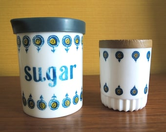 Set of 60's Kingston Plastic Sugar Canister and Container