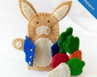 Pattern, Peter rabbit felt finger puppet pattern, Peter rabbit, felt finger puppet pattern, felt finger puppet, rabbit pattern, rabbit DIY