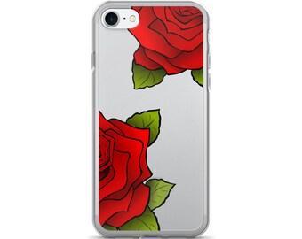 Rose iPhone 7 Case • Roses iPhone 6 Case • Red Rose iPhone Case • Women's iPhone 5 Case • Floral iPhone 7 plus Case ««« PF00 «