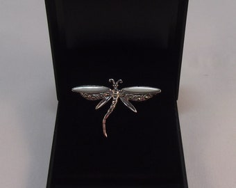 Lovely Silver Dragonfly Brooch