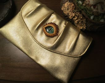 Gold Dragon Eye Clutch