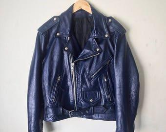 Wretch's Midnight Blue Classic Moto Jacket