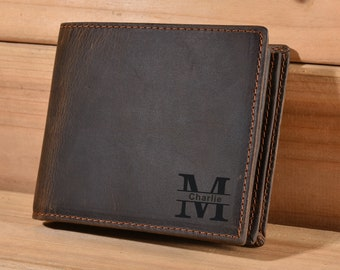 Personalized Monogrammed Engraved ,Best Man, Father's Day Gift,gifts,wallets for men,monogrammed wallet,personalized wallet,leather wallet