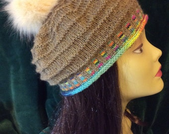 Ripple Hat with multicolor band