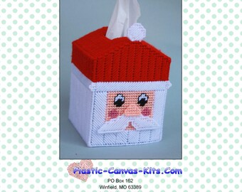 Christmas Santa Tissue Topper-PDF Download-Plastic Canvas Pattern