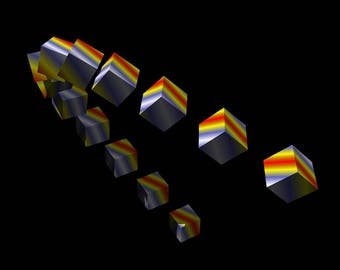 Pseudo-Hologram 31: Cubes (# PH_31_SP)
