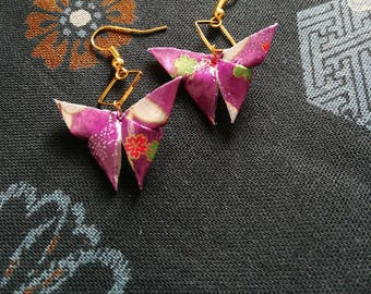 Butterflies (purple) [ Origami earrings ]