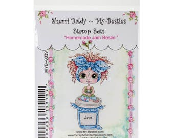 HOMEMADE JAM - My BESTIEs by SHERRi BALDY - Clear Stamp - New in Pkg.