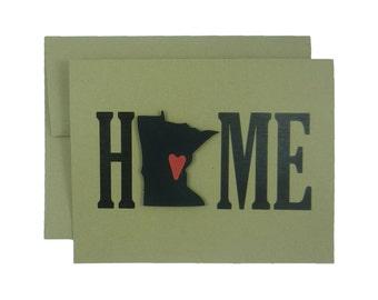 Minnesota Home Greeting Card Minnesota Gift New Home Gift Minnesota Love Housewarming Gift Minnesota Card New Home Card House warming Gift