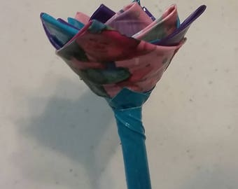 Trolls Duct Tape Flower or Flower Pen