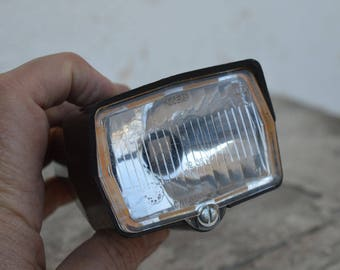 Head light - USSR moped head light - Bike torch - Bicycle lamp - Old bike torch - Bicycle Flash - Old lamp - Bicycle torch -  Old head light