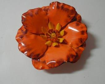 metal orange flower pin