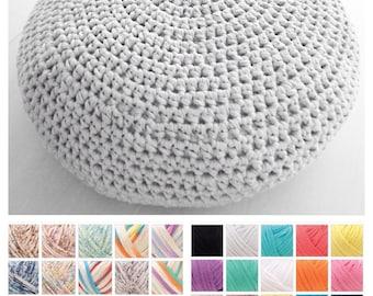 XXL Crochet Pouf Ottoman Floor Cushion PDF pattern - Instant Download