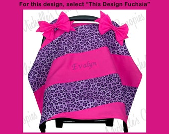 Custom Personalized Baby Infant Car Seat Cover for Girl, Baby Infant Car Seat Canopy for Girl