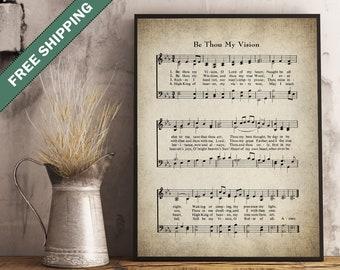 Be Thou My Vision Hymn Print Print - Wall Art - Sheet Music Art - Hymn Art - Hymnal Sheet - Home Decor - Music Sheet - Print - #HYMN-P-007