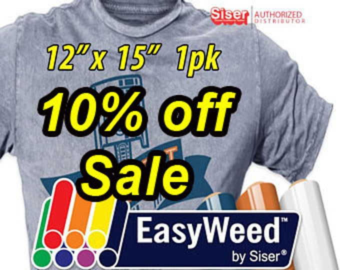 "12""x 15"" / 1-sheet / Siser EasyWeed  HTV - 10% OFF SALE"