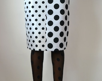 High Waist Polka Dot Pencil Skirt