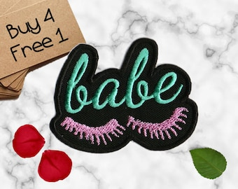 Babe Patch Lashes Patches Iron On Embroidered Patches