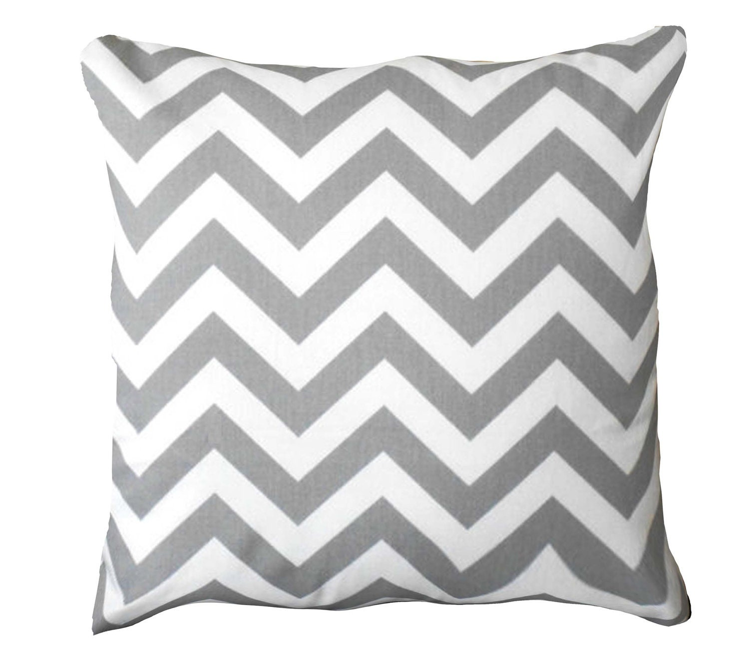 Grey Pillow Cover Gray Pillow CoverGray zigzag PillowGray