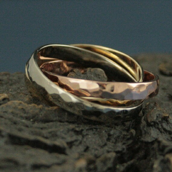 Russian Wedding Ring Mens Rolling Ring Interlocking Rings