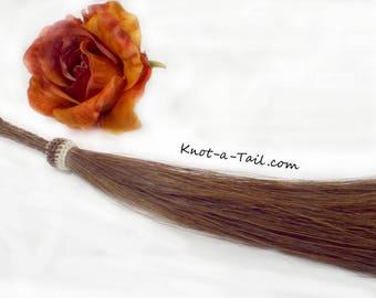 Long, horsehair tassel, Brown, shoo fly tassel, shu fly tassel, horse hair tassel, loop end braid horsehair, reddish Brown, horsehair tassel