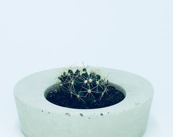 Concrete planter, pot, Handmade, cactus pot, Gift ideas