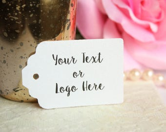 YOUR TEXT HERE Custom Favor Tags for Weddings, Bridal Showers, Birthdays, Baby Showers, Merchandise Tags, Product Tags - Set of 20
