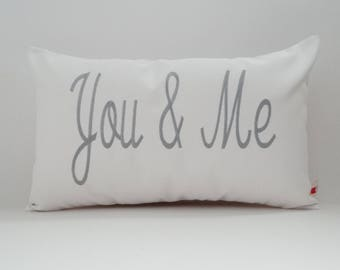 Pillow Cover | YOU & ME Pillow | Couples Pillow | Love Pillow | Embroidered Pillow | Wedding Gift | Anniversary Gift | Decorative Throw