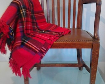 Vintage Royal Stewart Tartan Wool Throw/picnic blanket