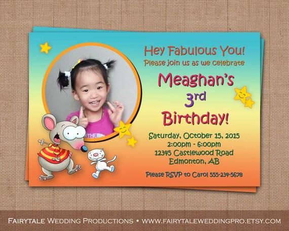 Personalizada Toopy y Binoo cumpleaños partido foto invitación